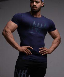 Camiseta T -Shirt Letras - Azul Turqui