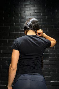 Camiseta T-Shirt Tono A Tono - Negro
